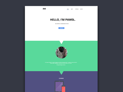 Personal portfolio personal portfolio design webdesign web onepage css flat logo html color