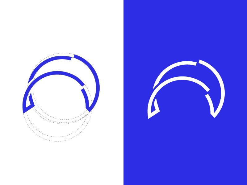 Dolphin sign + Grid golden ratio id grid fish dolphin animals animal sign symbol logo design
