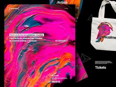 Visualment festival visual graphic page design webdesign landing page