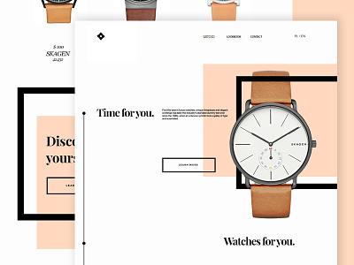 Watches web minimal webdesign design landing page web watches