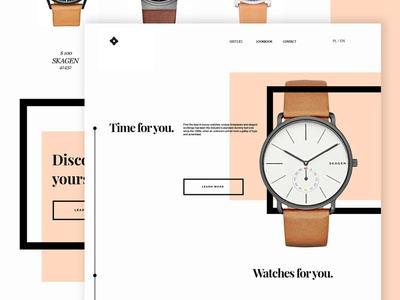Watches web minimal webdesign design landing page web watches