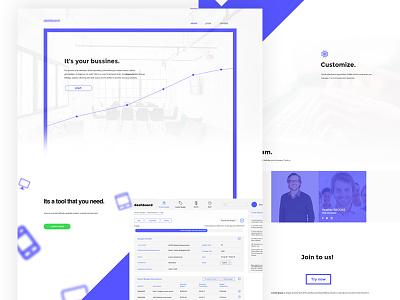 Bussines tool concept webdesign web concept site landing page tool bussines design