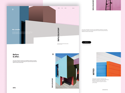 Architectural studio website site color design webdesign web website architecture