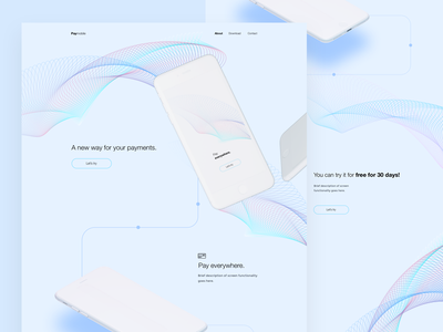 Paymobile design page landing product aplication app landing page site concept web webdesign