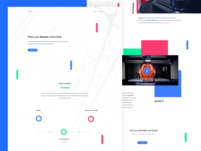 print.it design print tool page landing product aplication app landing page concept web webdesign