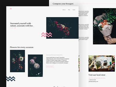Local florist hire color website site ui webdesign web flowers florist design