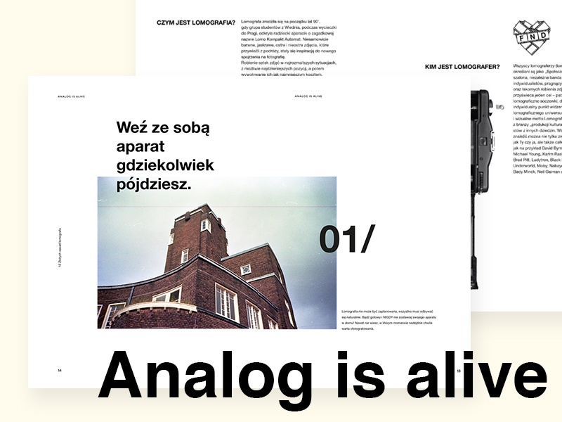 Analog is alive - editorial design