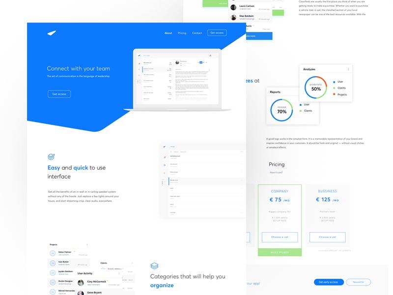 Team Connect ux design ui design minimalistic grid webdesign design ux ui web