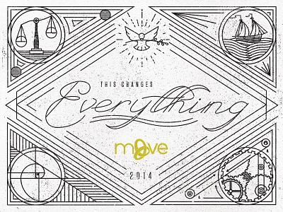 2014 MOVE Conference high school ciy move dove ship monoline icons scale gears golden ratio