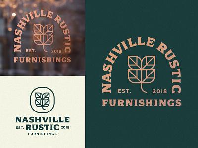 Nashville Rustic Branding furniture nashville crest logo branding