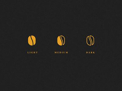 58 Coffee Branding badge beans kc roaster logo branding yellow coffee kansas city kcmo