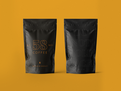 58 Coffee Branding badge beans kc roaster logo branding yellow coffee kansas city kcmo