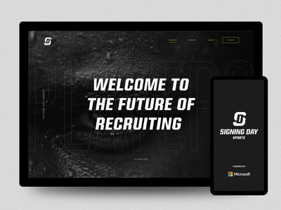 Signing Day Sports App and Marketing Site