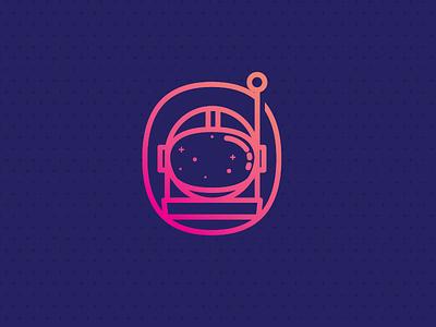 Astronaut Icon astronaut space helmet gradient icon