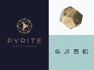 Pyrite Music music pyrite fools gold geometric icons logo branding identity