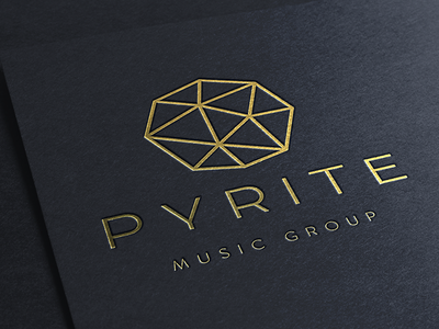 Pyrite 2 pyrite gold logo branding music identity