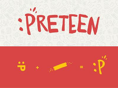 Preteen Emoticon Logo preteen teen kids play emoticon spit fun paint brush strokes