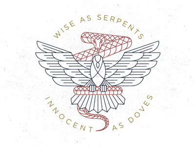 Serpents & Doves serpent dove verse tattoo tee snake bird bible