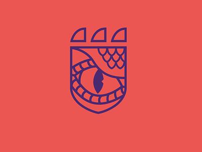 Team Beasts logo crest icon eye dragon team teams beasts