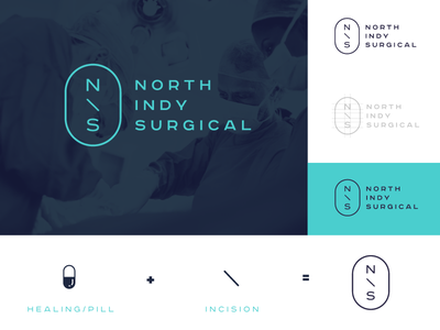 NIS Concept doctor surgical surgery branding logo indy indianapolis north
