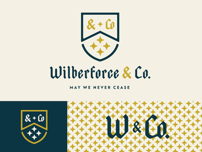 Wilberforce & Co Unselected stars co w crest logo branding