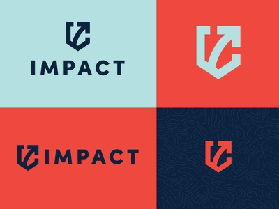 Impact Branding missions youth ministry badge arrow crest icon branding logo