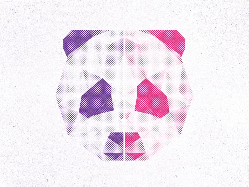 Geometric Halftone Panda geometric halftone panda illustration apparel verses