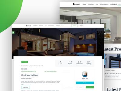 Gharasti Real Estate Website Design branding website design ui web design