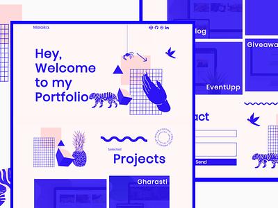 My new Portfolio Design web design branding design webdesign website portfolio