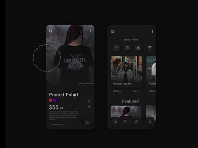 Mobile App Design Concept app ux app ui e-store ecommerce design ecommerce app ecommerce appdesigner design figma mobile app appdesign app illustration ux ui