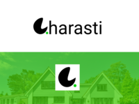 Gharasti Property Real Estate Website Logo Design