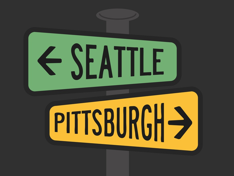 SEA PGH sign street sign pittsburgh seattle
