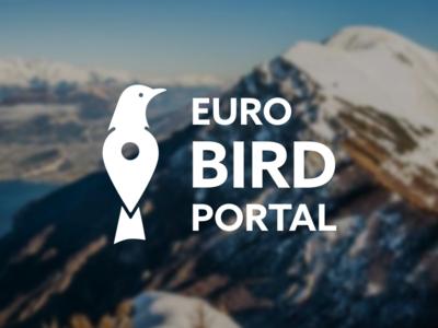 Euro Bird Portal pin logo europe marker symbol logo euro bird portal birdwatching birdwatch bird euro