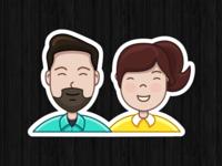 """Sticker """"us"""""""