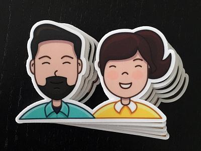 Sticker Us - Printed! print stickermule people sticker illustration