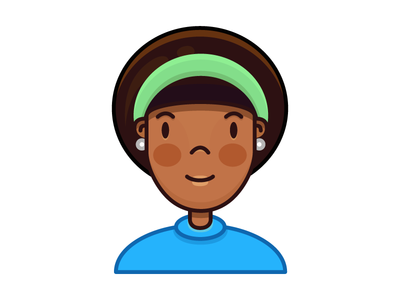 Alisa icon avatar cute girl character people illustration