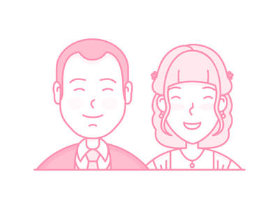 Couple on their wedding day love wedding couple illustration people character cute avatar icon