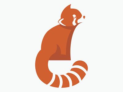 Red Panda logo mark red panda mark nature flat cute illustration logo animal mark animal