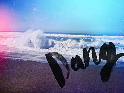 Dang lettering hand lettering watercolor ink type dang phtography lomography
