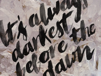 Dribbble lettering type crystals typeography ink brushwork calligraphy adele darkest before the dawn