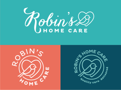 Robin's Home Care Logo Variations