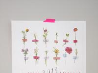2013 watercolor flower calendar 2