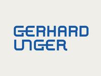 Gerhard Unger Logo Design