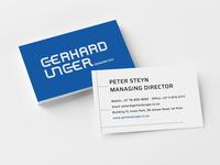 Gerhard Unger Business Cards