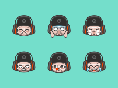 El Samwell Emoticons emotes gaming design illustration 2d faces icons emtocions