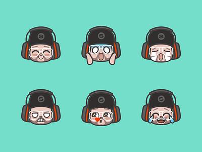 El Samwell Emoticons emotes gaming design illustration 2d faces icons emtocions