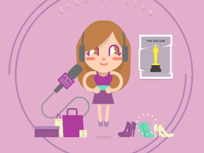 Elva y Sam save the date animation 2d girly girl