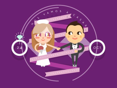 Elva & Sam Save the date save the date animation 2d girly girl married marriage