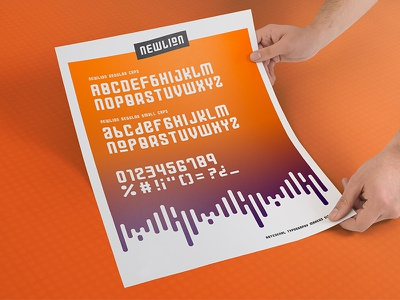 Newlion Font bold regular newlion typography font