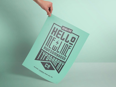 Newlion Font type poster typography font
